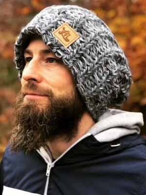 czapka surferska, czapka szara, czapka ovesize meska, czapka oversize damska, luzna czapka