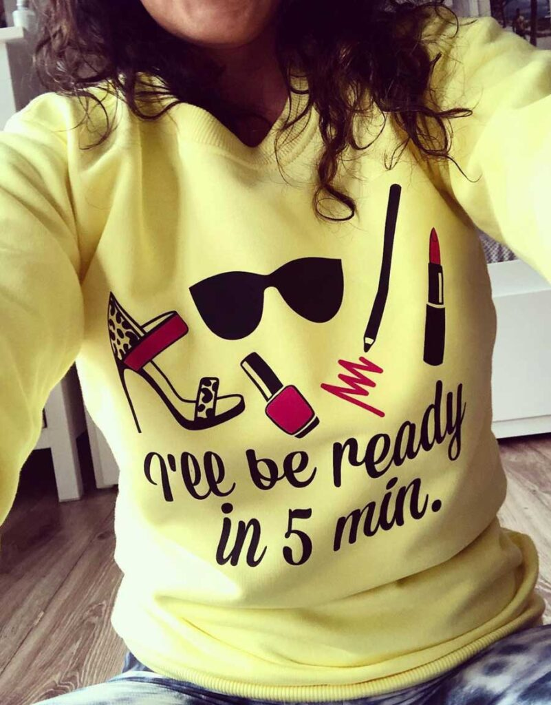 zolta bluza damska