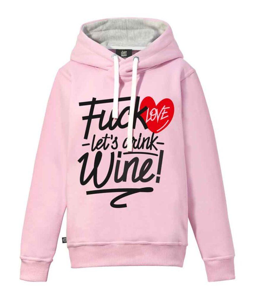 Różowa bluza z napisami