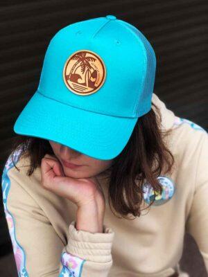 morska czapka na lato damska