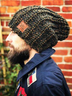 czapka meska zimowa khaki